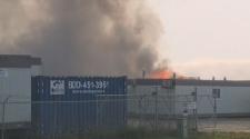 Fire in Regina industrial park