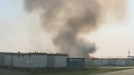 Fire breaks out in Regina industrial area