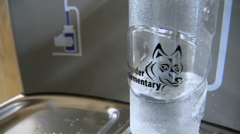 While many schools across Vancouver Island encourage students to choose water over sugary drinks, Alexander Elementary is the first to take it to a new level. Sept. 11, 2017. (CTV Vancouver Island)
