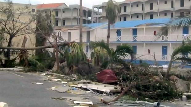 Devastation in St. Maarten after Hurricane Irma is seen in this photo taken by Reynolds.
