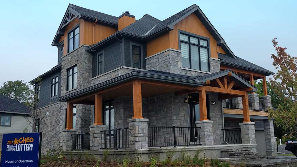 The Minto Dream Home is the showpiece of the Grand Prize Package worth over $1.7 million.   It's located on Chriscraft Way in Mahogany, Minto's signature community in Manotick.