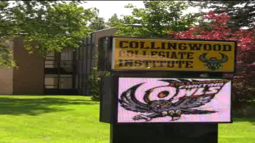 The altercation occurred in a hallway at Collingwood Collegiate Institute on Friday.