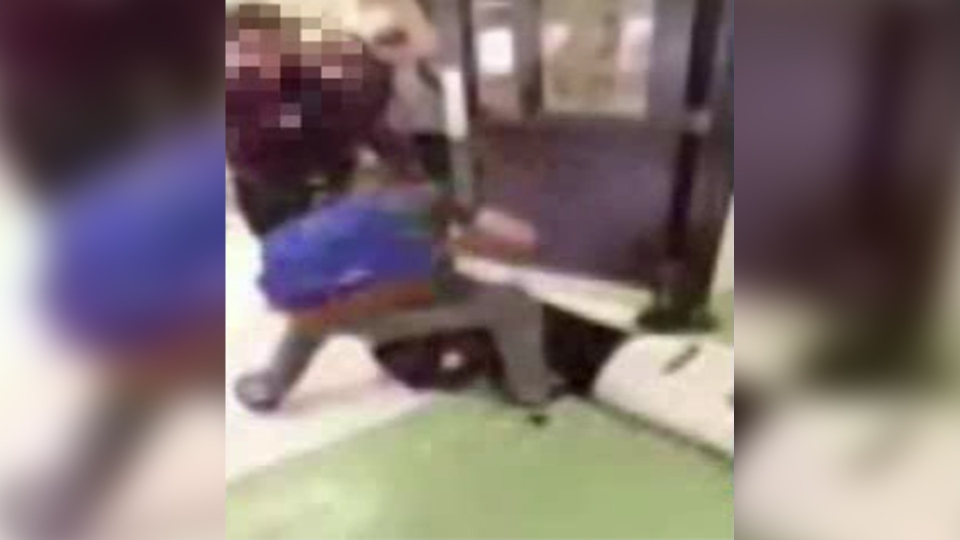 Video showed the 14-year-old boy lying on the ground as another student hit him multiple times.