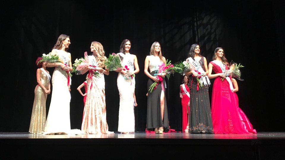 Six finalists were selected at the Miss Universe Canada Western Ontario Pageant in Windsor, Ont., on Saturday, Sept. 9, 2017. (CTV Windsor)