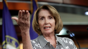 In this July 27, 2017 file photo, House Minority Leader Nancy Pelosi of Calif. gestures during a news conference on Capitol Hill in Washington. (AP Photo/J. Scott Applewhite, File)