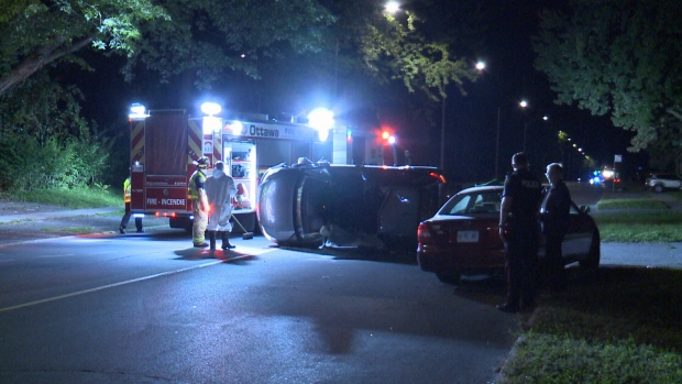 rollover on Meadowlands Drive