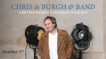 Win tickets to see the legendary Chris de Burgh!