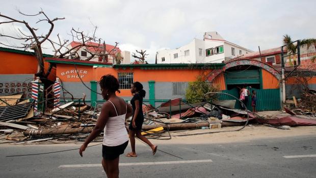 Hurricane Irma devastation on St. Martin