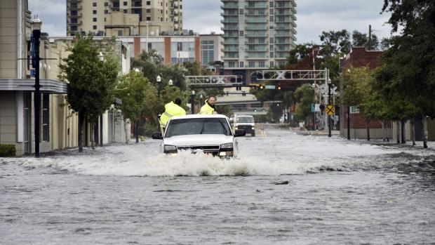 As Hurricane Irma passes Jacksonville, Fla.