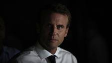 France's President Emmanuel Macron in St. Martin