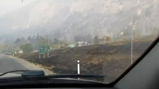 Fire still out of control in Waterton
