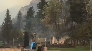 Wildfire destroyed much of Waterton Lakes National Park in Alberta.