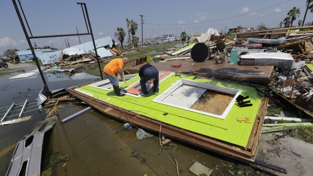 Cleaning up in Rockport, Texas