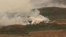 Waterton wildfire fight
