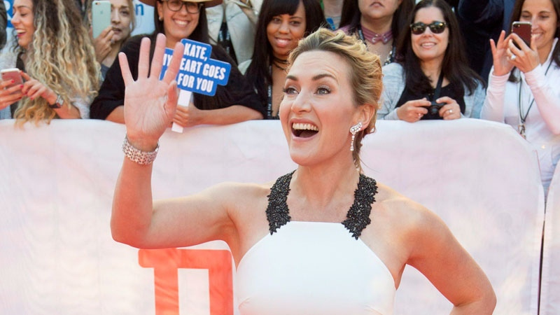 Kate Winslet arrives on the red carpet for the premiere of the film 'The Mountain Between Us' during the 2017 Toronto International Film Festival in Toronto on Sunday, September 10, 2017. THE CANADIAN PRESS/Frank Gunn