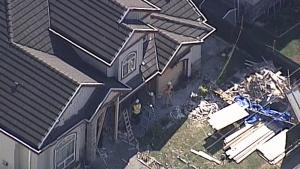 Home damaged in limo crash