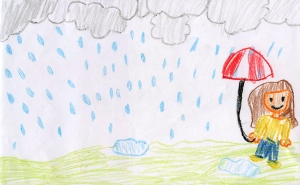 Weather art by Kiana and Ariel, ages 10 and 8, from Pebble Hill Traditional Elementary School.