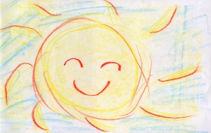 Weather art by Annie, age 10, from Vancouver Waldorf School.