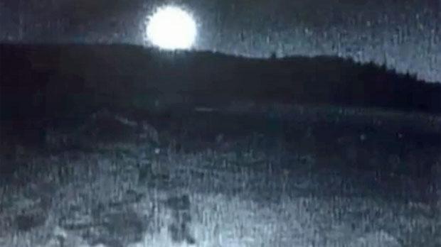 Video still of September 4, 2017 meteorite recorded at Sunshine Village (image: Sunshine Village)
