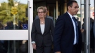 Ontario Premier Kathleen Wynne leaves after appearing as a witness in the Election Act bribery trial in Sudbury, Ontario, Wednesday, Sept. 13, 2017. THE CANADIAN PRESS/Sean Kilpatrick