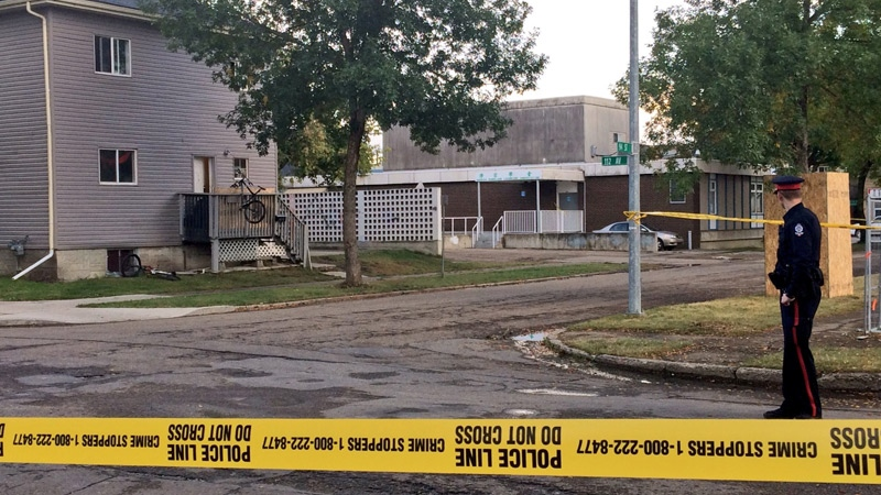 EPS taped off an area surrounding a home on 112 Ave.and 94 St., after a man was shot and killed in a home.