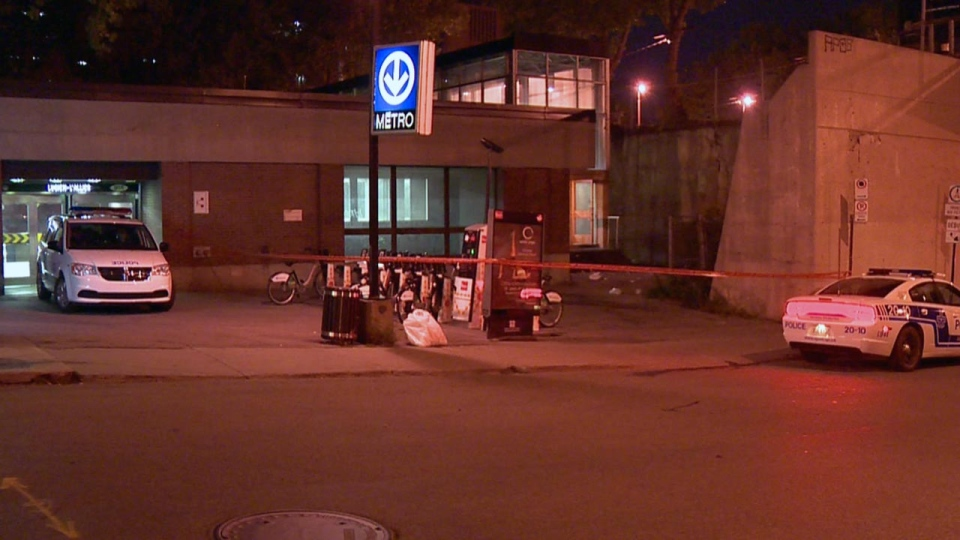 Montreal police rushed to Lucien L'Allier metro after the discovery of two unconscious drug addicts (CTV Montreal/Cosmo Santamaria)