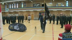 The Invictus flag is touring Canada in advance of the Games that begin in Toronto on Sept. 23, 2017.
