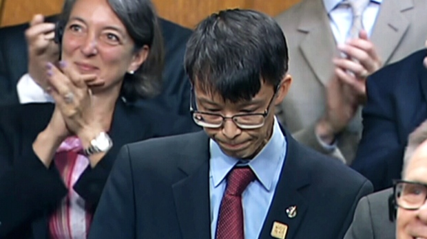 Liberal MP Arnold Chan is seen in the House of Commons in this undated file photo.