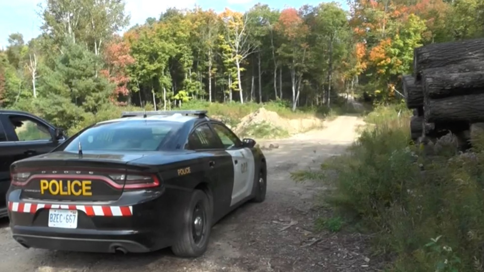 The OPP can be seen at a fatal ATV crash in Minden Hills, Ont. on Wednesday, Sept. 13, 2017.