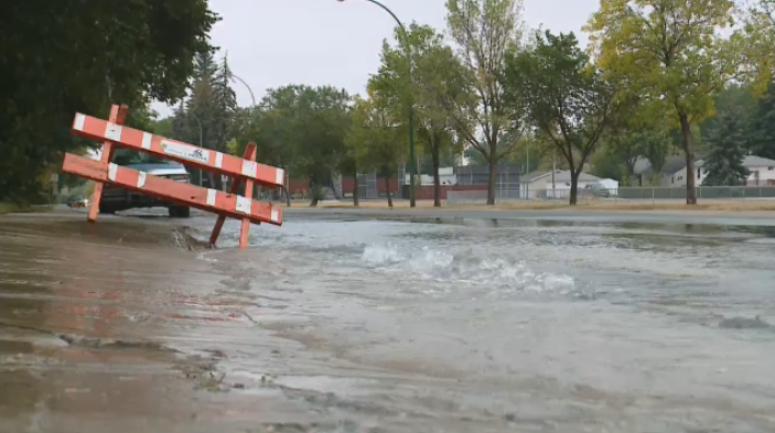 Water main break in Lakeview.
