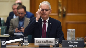 Minister of Transport Marc Garneau appears as a witness at a committee on Parliament Hill in Ottawa on Thursday, Sept. 14, 2017. (THE CANADIAN PRESS/Sean Kilpatrick)
