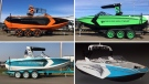 RCMP released photos of four boats, stolen from a Leduc dealership early Wednesday, September 13, 2017. Supplied.