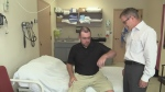 Linesman Kevin Brown in stroke rehabiliation program