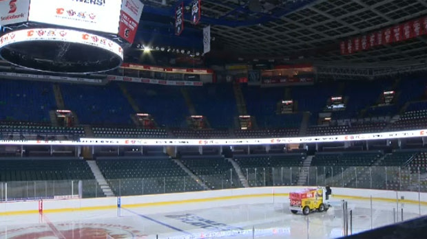 Ice surface at the Scotiabank Saddledome (file photo)