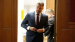 Reality TV star Chris Soules, of 'The Bachelor' appears at a hearing in Buchanan County District Court, Thursday, Sept. 14, 2017, in Independence, Iowa. (Matthew Putney / The Courier via AP, Pool)