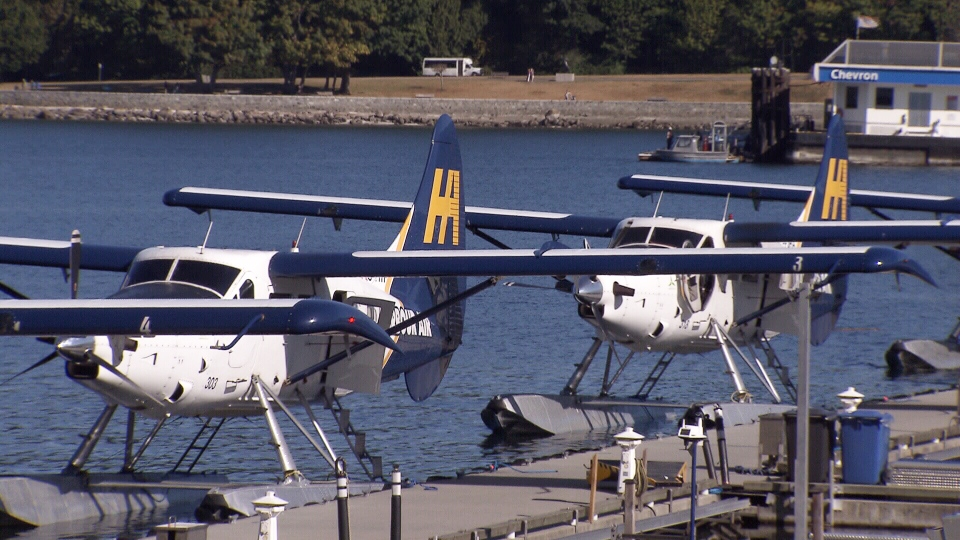 Harbour Air seaplanes are seen in Vancouver's Coal Harbour.