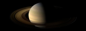 Saturn as captured by Cassini