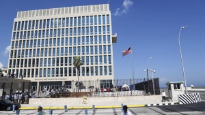 A U.S. flag flies at the U.S. embassy in Havana, Cuba, on Aug. 14, 2015. (Desmond Boylan / AP)