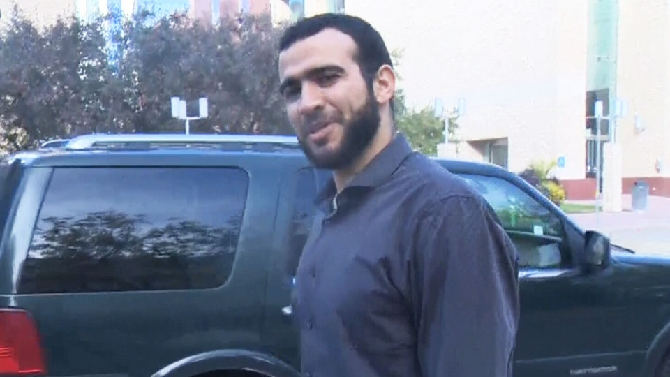 Omar Khadr attends court in Edmonton, on Friday, Sept. 15, 2017.