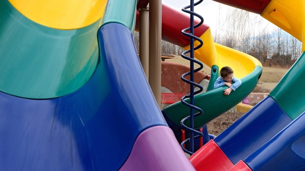 Injury risk for kids sliding down with their parents