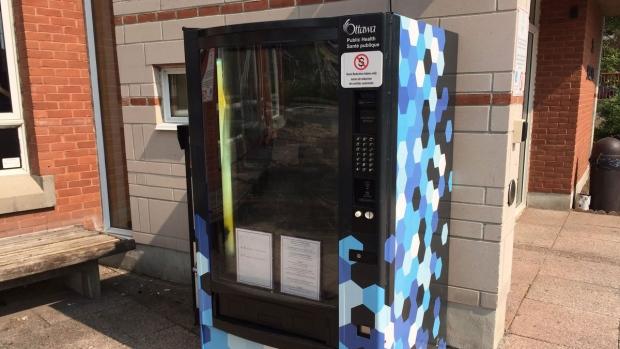 Harm reduction dispensing unit rests outside Somerset West Community Health Centre (Source: Somerset West Community Health Centre)