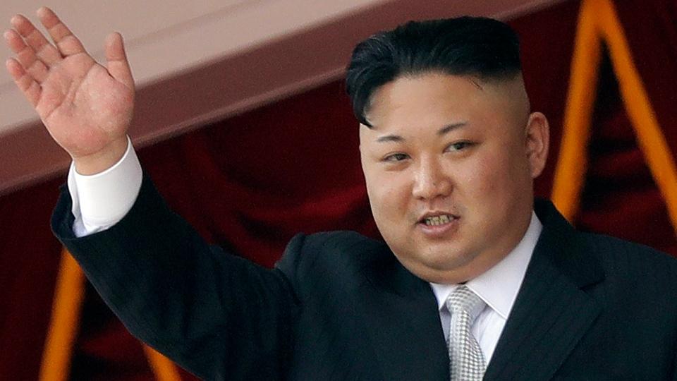 North Korean leader Kim Jong Un waves during a military parade in Pyongyang, North Korea on April 15, 2017. (AP / Wong Maye-E)
