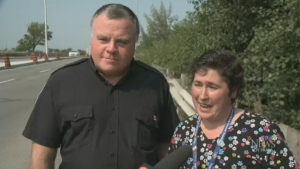 Ottawa bylaw officer David MacKaviy and Geraldina Cavalgo, a support worker, rushed to help a baby boy in need after the child stopped breathing.