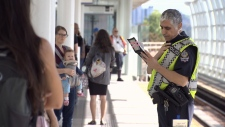 A Transit Police officer in this file photo from 2012. (CTV News)