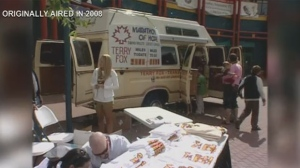 Terry Fox's Marathon of Hope van in Calgary
