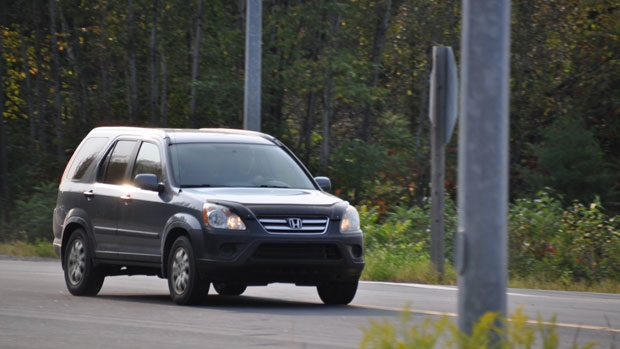 The boy was found in the Honda CRV (photo: Gerald Tracey, The Eganville Leader)