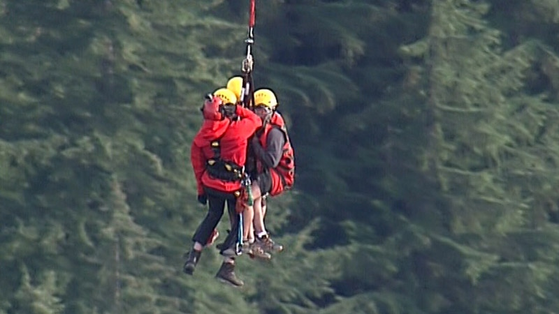 North Shore Rescue crews were called to the peak of Crown Mountain Friday, Sept. 15, 2017.