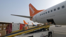 A Sunwing flight headed to Antigua