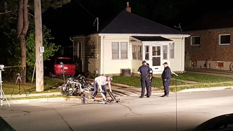 St. Thomas motorcycle crash on Sept. 15, 2017. (Facebook/Tiffany Ruault)