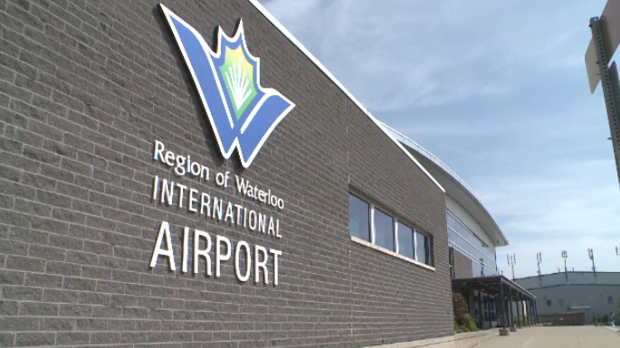 The exterior of the Region of Waterloo International Airport in Breslau.
